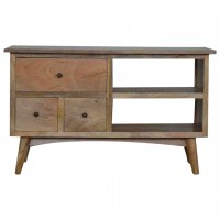 Nordic Style Media Unit with 3 Drawers