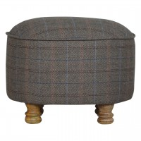 Oval Multi Tweed Foot Stool