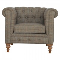 Multi Tweed Chesterfield Armchair