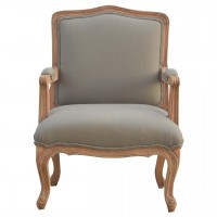 French Style Upholstered Arm Chair