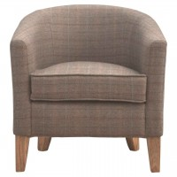 Upholstered Tweed Tub Chair
