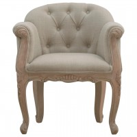 French Style Deep Button Chair