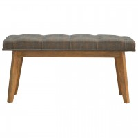 Multi Tweed Deep Button Bedroom Bench