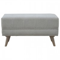 Nordic Style Footstool in Grey Tweed