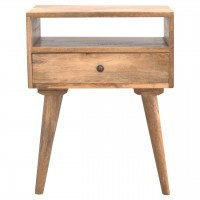 Modern Solid Wood Bedside with Open Slot