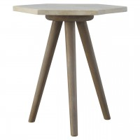 Solid Wood Petite Hexagon End Table