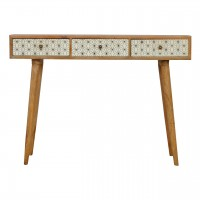 Geometric Screen Printed Writing Desk