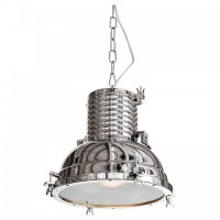 Industrial Ceiling Light Chrome